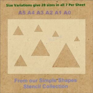 Simple-Shape-Triangles-Stencil-Strong-350-micron-Mylar-not-Hobby-stuff-SSS0011