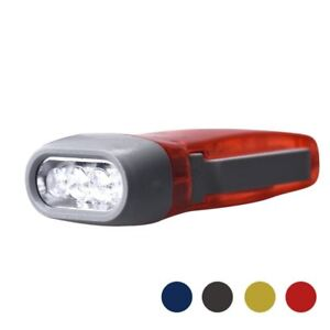 Portable Wind up Hand Pressing Crank Emergency Camping LED Flashlight Torch  UK