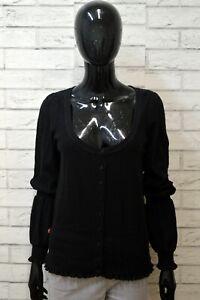 Maglia-Levi-039-s-Taglia-L-Maglione-Nero-Donna-Pullover-Lino-e-Cotone-Caldo-Sweater