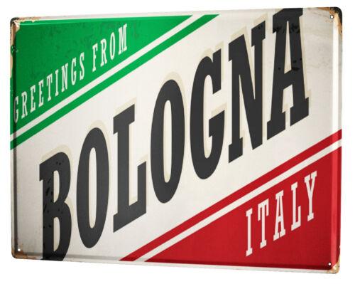 Plaque émaillée Rétro Signe  Métropole Bologne Italie