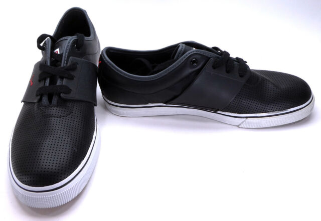 d629aeae4ae Puma Shoes El Ace Perforated Leather Mismatch Black Sneakers Size 11.5 10.5