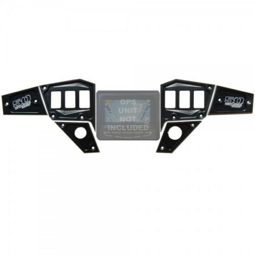 6pc Billet Dash Panel Polaris GPS Black 2015 2016 RZR XP 1000 S 900 Trail UTV