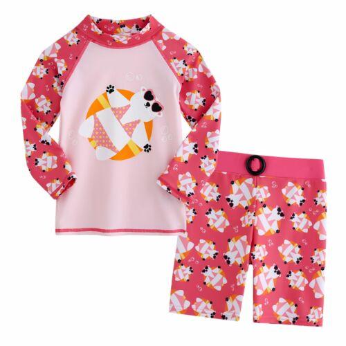 """Vaenait Baby Girls Short Leggings Rashguard 12 Swimsuit Set /""""Kids Girls/"""" 2T-7T"""