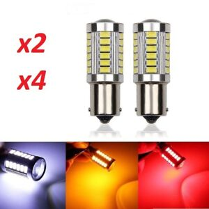 Lampadine-LED-P21W-Canbus-BA15S-1156-33smd-Chip-5630-bianco-giallo-rosso