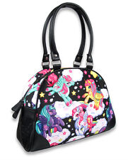 Liquor Brand Pegasus Brony Cartoon Unicorns Pony Punk Bowling Bag Handbag Purse