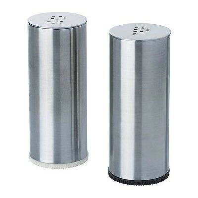IKEA Salt & Pepper Shaker, Set Of 2, Stainless Steel Free Shipping !