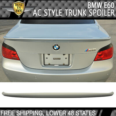 04-08 BMW E60 M5 5-Series AC-S Style ABS Trunk Spoiler Wing Unpainted