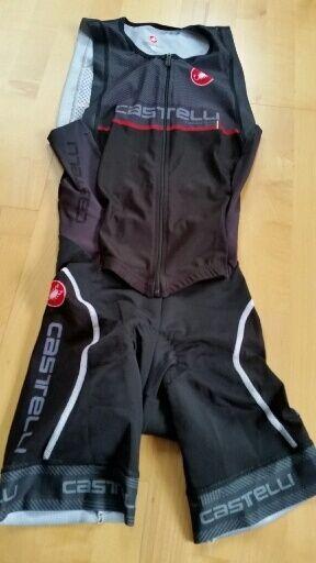 CASTELLI Men's SAN REMO Sleeveless gratuito Tri Suit SL AERO leg   Dimensione XS , S57(U)
