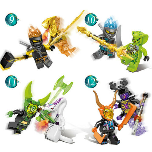 24 Stk Ninjago Mini Figuren Set Kai Jay Sensei Wu Master Building Blocks Toys DE