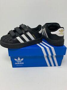 *NEW* Adidas Superstar Foundation CF I Toddler Shoes Black//White//Black B23638