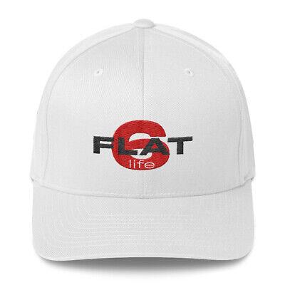 PORSCHE enthusiast FLAT SIX LIFE  Vintage Cotton Twill Cap