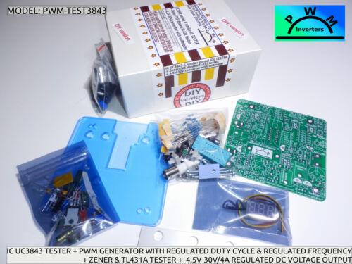 UC3843 /& semblables fly-back Chips Testeur Test 3843 Générateur Zener /& TL431 Testeur