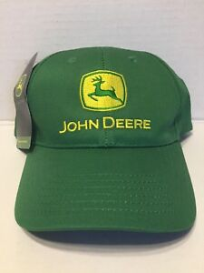 741f575f9d362a Image is loading John-Deere-Hat-Green-Embroidered-Yellow-Logo-Strap-