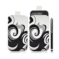 Housse coque étui pochette pour HTC Incredible S avec motif HF04 + Stylet luxe