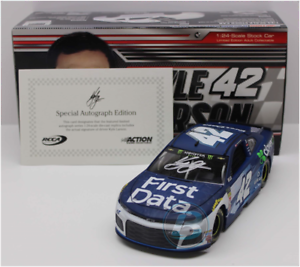 SIGNED 2018 KYLE LARSON FIRST DATA AUTOGRAPHED 1 24 DIECAST CAR