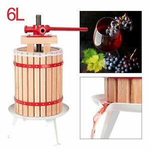 6L-Obstpresse-Saft-Presse-Obstpresse-Saft-Fruchtpresse-Entsafter-Weinpresse