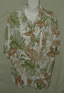 Island-Blue-Men-039-s-Large-SS-Hawaiian-Shirt-with-Chest-Pocket-100-Rayon