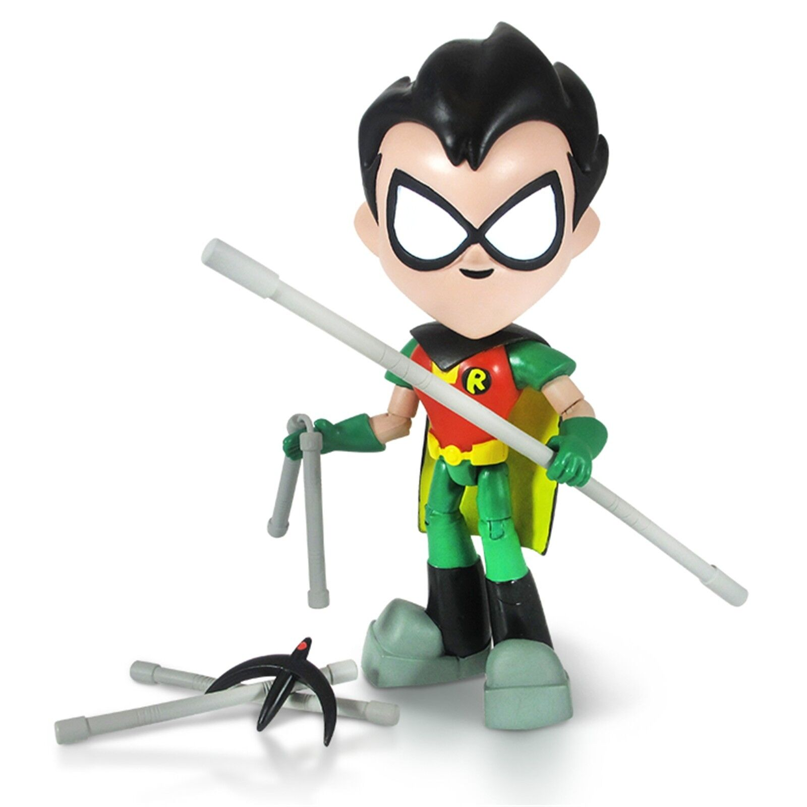 Big 8  (20cm) Teen Titan Robin Leader GO  Articulated Action Figure Case Of 4
