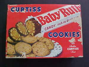 1950 VINTAGE ORIGINAL CURTISS BABY RUTH CANDY COOKIE BOX GREAT COLORS & GRAPHICS