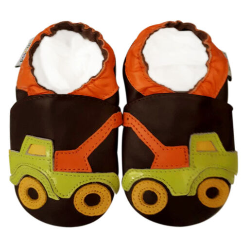 Jinwood shoes Soft Sole Leather Baby Kid Infant child TruckBrown  Shoes 18-24M