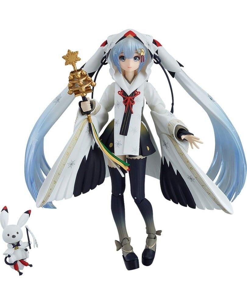 Figma EX-045 Vocaloid Nieve Miku Grúa Sacerdotisa Ver Figura de Acción Max