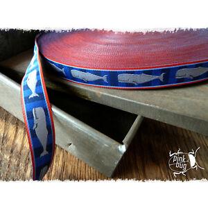 Balena-blu-rosso-stripes-Farbenmix-NASTRO-WEB-15mm-1M