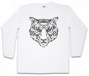 TRIBAL-TIGER-II-LONG-SLEEVE-T-SHIRT-Celtic-Celts-Symbol-Culture-Tattoo-Art