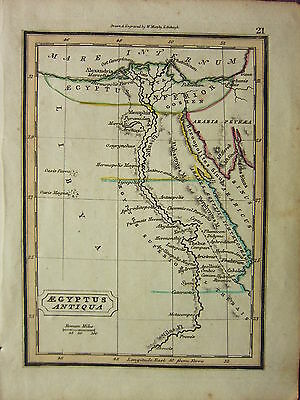 1832 Small Ancient Map ~ Aegyptus Antiqua Libya Delta Nile Goshen Memphis Fixing Prices According To Quality Of Products