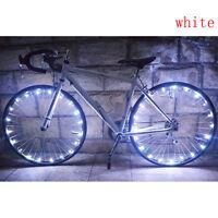 New 20 LED Bicycle Cycling Rim Lights LED Wheel Spoke Light String Strip Lamp