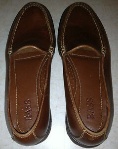 WOMENS-BASS-LOAFERS-SIZE-61-2M-BROWN-LEATHER-WORN-TWICE-EXCELLENT