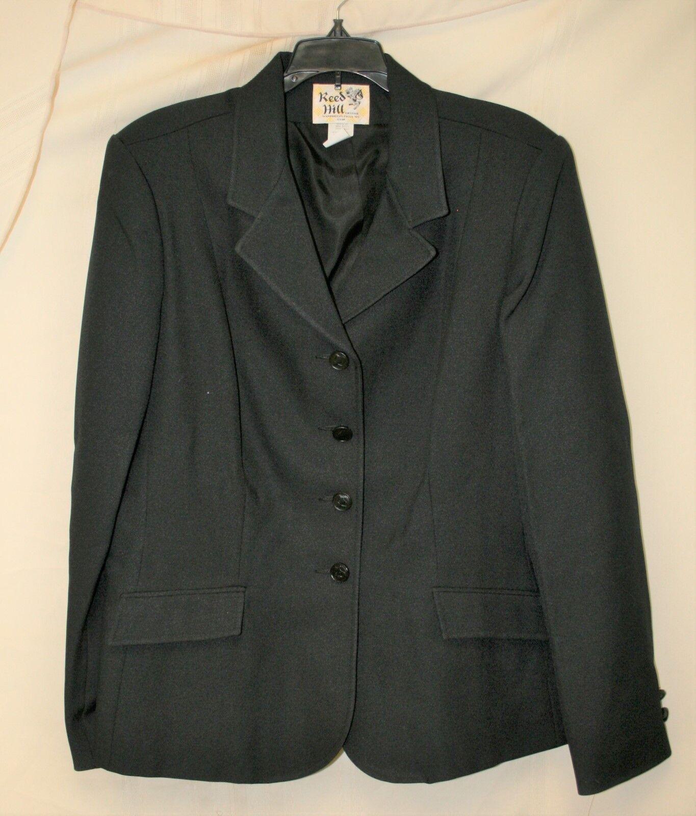 Nuevas Damas Abrigo De Doma mostrar Reed HILL-tamaño 20, Negro
