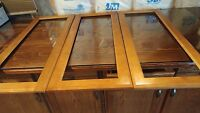 3 Open Panel For Glass Insert Maple Cabinet Door Frame 16-3/16 W X 38-1/2 H