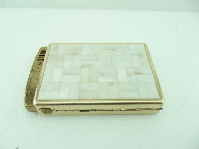 Vintage Retro Mid Century Mother of Pearl Cigarette case with Lighter