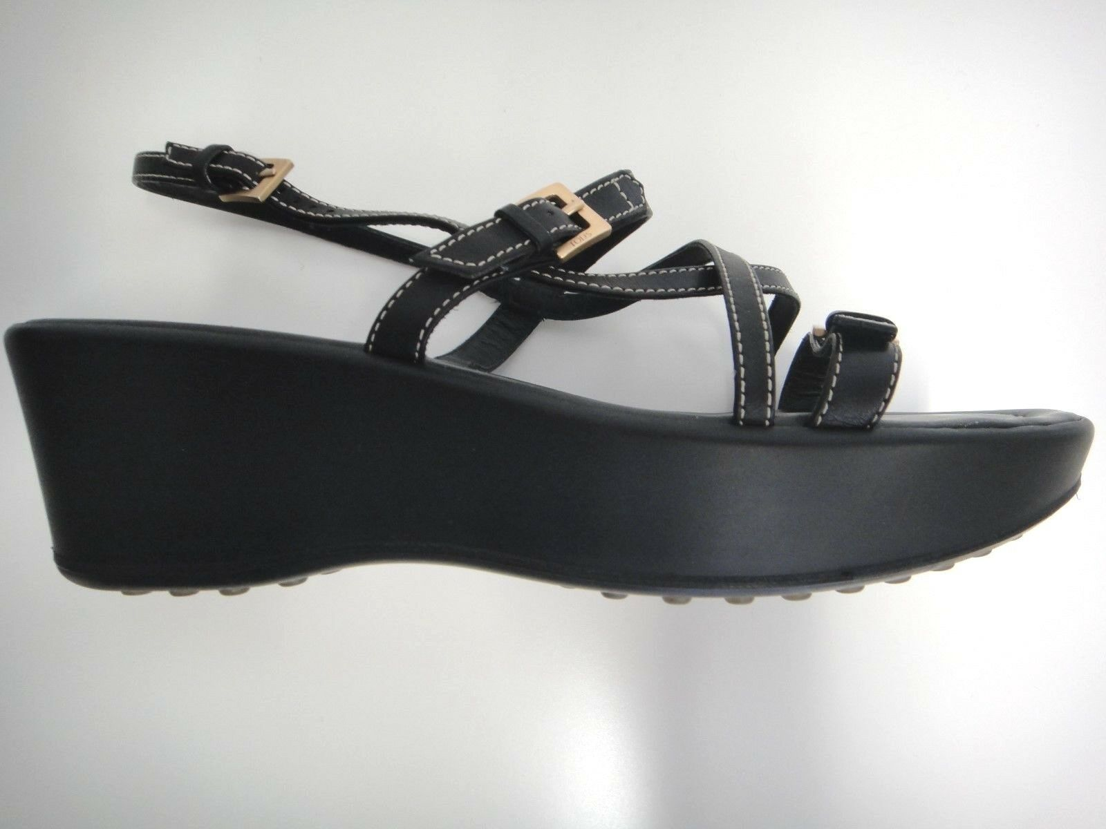 TOD'S Design Platform fits US9 schwarz comfortable  good cond 450 value Deal