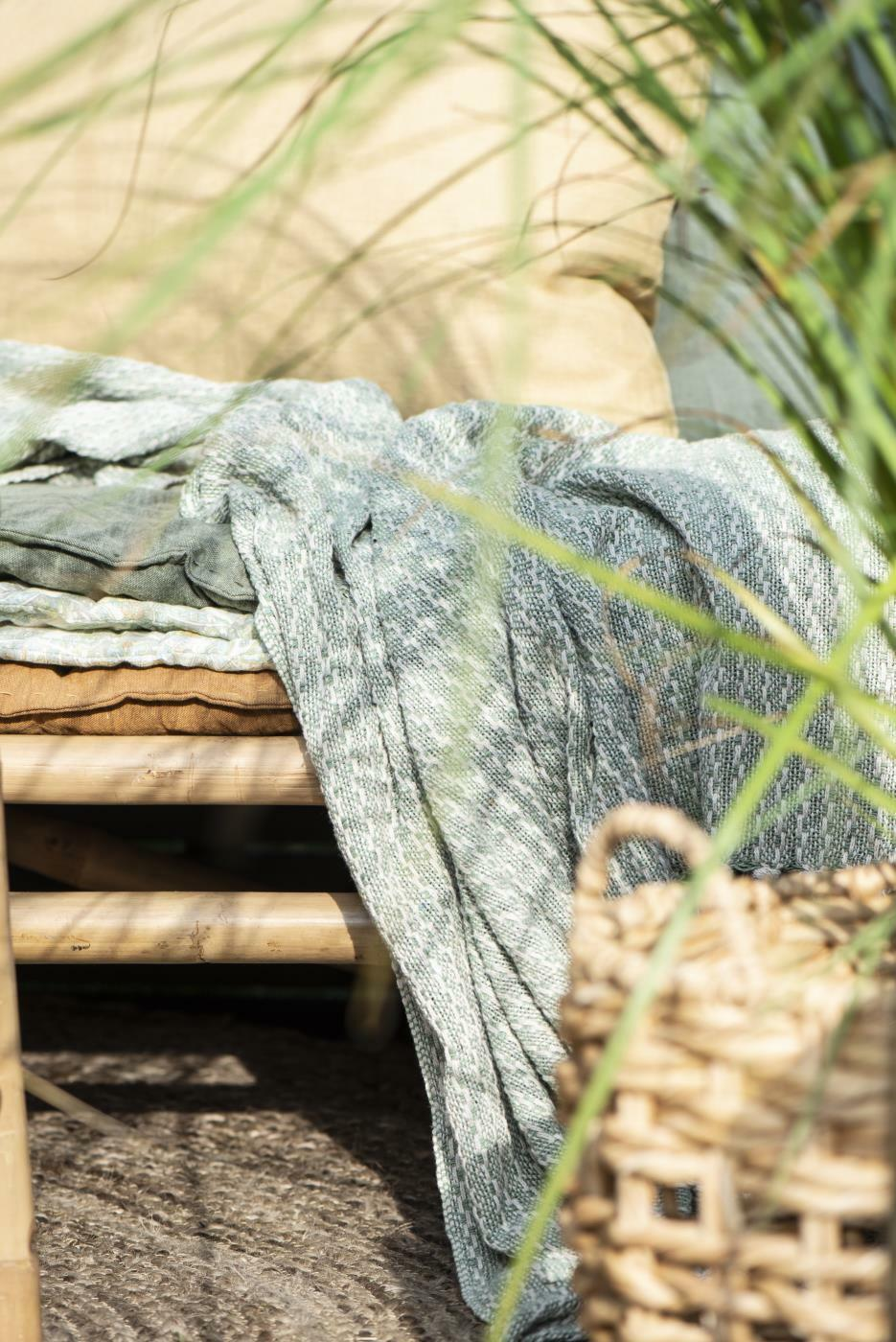 Ib Laursen Plaid Sommerdecke Quilt Decke Grün 130*180 Tagesdecke-Copy