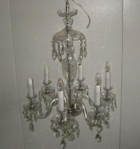Lampadari Di Cristallo Di Boemia.Dettagli Su Lampadario In Cristallo Di Boemia Vintage