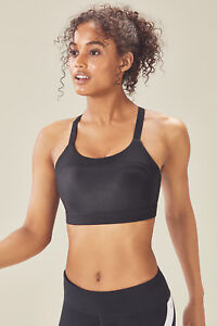 a99a957106e10 Fabletics Athletic Adele High Support Shine Sports Bra S 4-6 L 10-12 ...