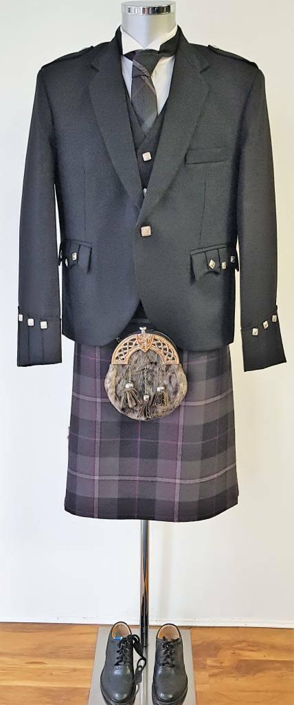 Passion of Scotland Pewter Scottish Highland Dress 8 Yard Kilt Ready Made