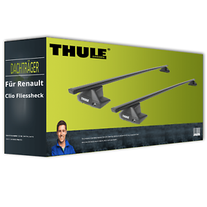 Thule SquareBar - Dachträger - Stahl - für Renault Clio Fliessheck V Typ BF NEU