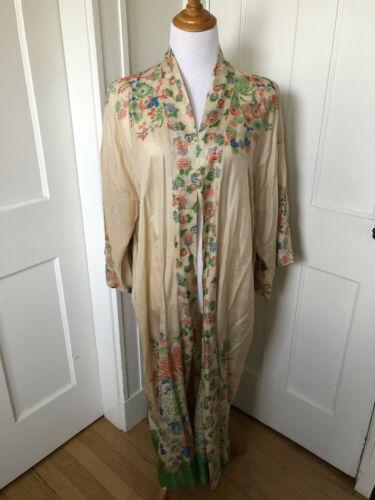 Vintage Japanese silk pongee robe/dressing gown