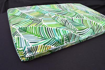 LF813a  Green Blue Yellow Brown leaf Cotton Canvas Cushion Cover//Pillow Cover