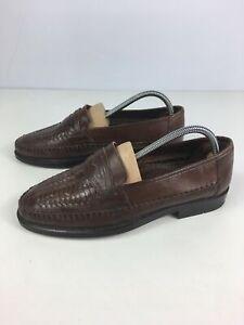 Para-hombres-Cuero-Marron-Oscuro-CLARKS-Mocasin-Resbalon-en-Zapatos-Trabajo-Inteligente-UK-7-EU-41