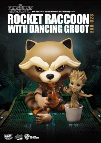 GUARDIANI DELLA GALASSIA ROCKET/DANCE GROOT VERSIONE EGG ATTACK DA BEAST KINGDOM
