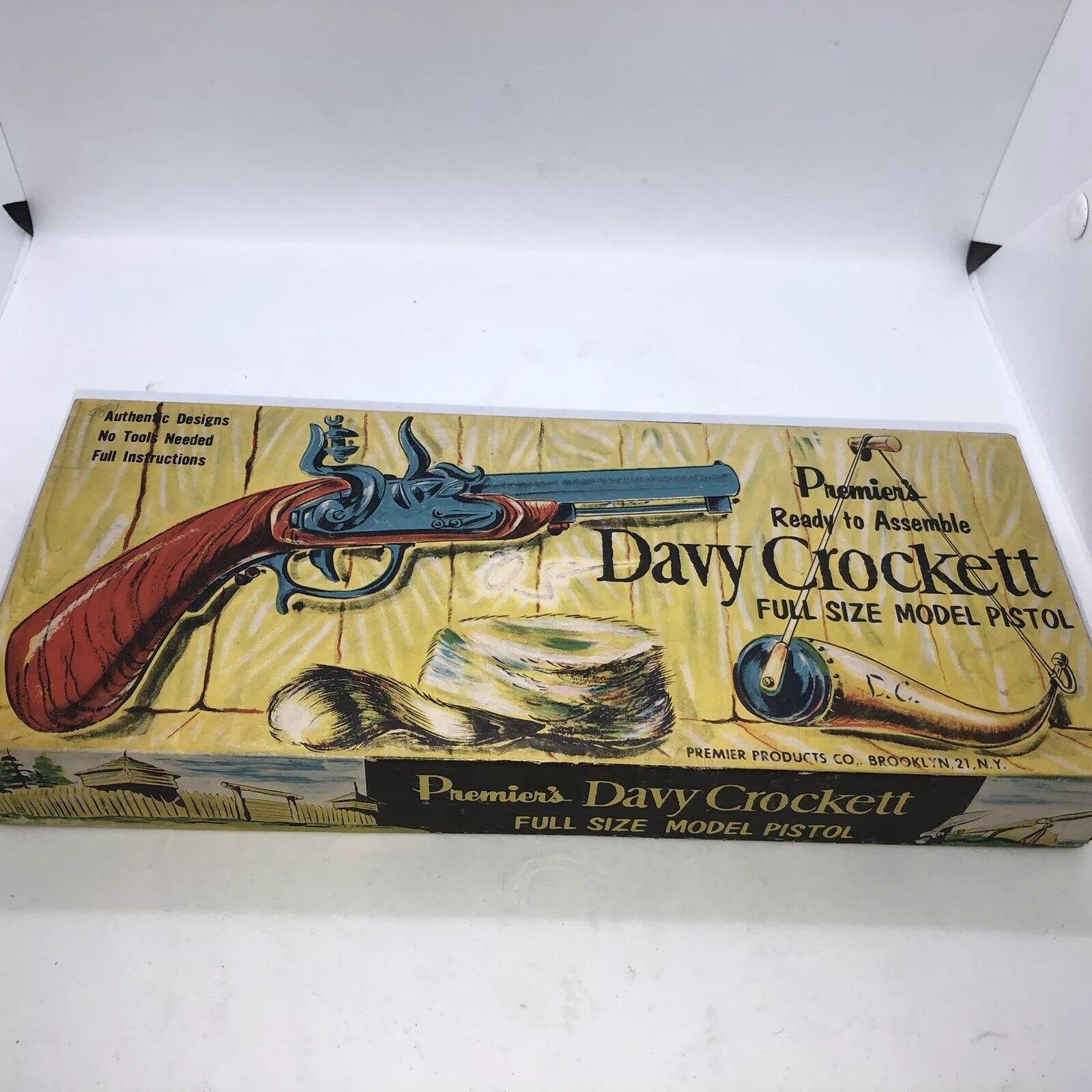 Premier's Davy Crockett Tamaño Completo Vintage Modelo pistola sin edifiCoche