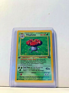 1st-Edition-Pokemon-Holo-Vileplume-Jungle-15-64-Unplayeed-Mint