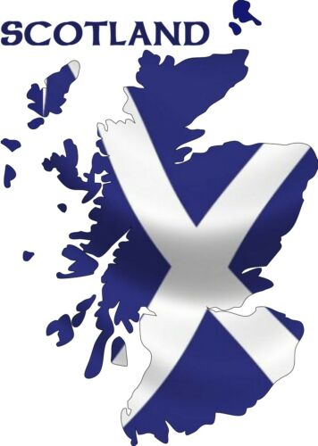 Scottish Map St Andrews Wavy Flag Car Exterior Vinyl Sticker Scotland Satire