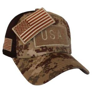 Image is loading Desert-Digital-Camo-US-American-Flag-Patch-Baseball- daa95a50084e