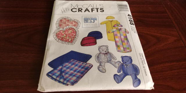 Craft McCall #4168 Baby Blanket Pillow Bear Bunting Hat Sewing ...