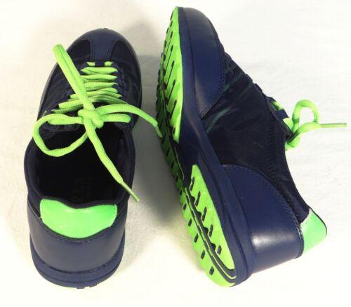 Lauren Ralph Lauren Falon Blue /& Green Leather /& Mesh Casual Shoes Womans NWT