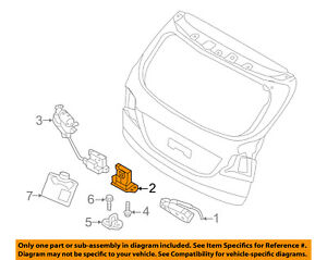 hyundai oem 13 17 santa fe liftgate tailgate hatch latch 812303z000 rh ebay com